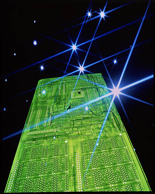 Integrated Photograph - Computer Circuit Board by Pasieka