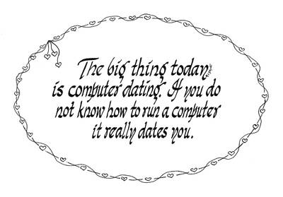 Computer Dating Art Print by Ruth Bodycott
