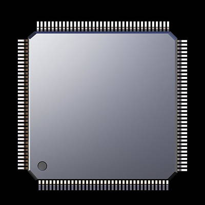 Computer Memory Chip Art Print