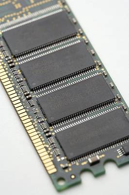 Integrated Photograph - Computer Memory Chips by Jon Stokes