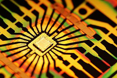 Computer Microchip Art Print by Pasieka