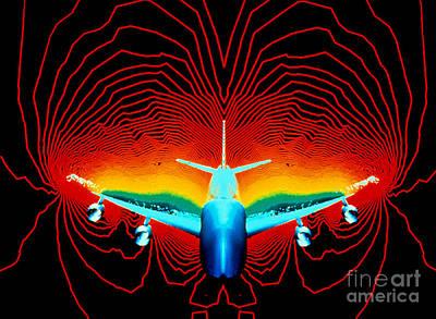 Photograph - Computer Simulation Of Airplane Flight by Nasa