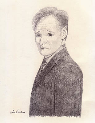 Graphite Photograph - Conan O'brien by M Valeriano