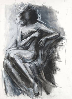 Concealed Woman With Drapery Art Print by Kristina Laurendi Havens