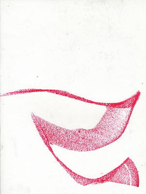 Abstract Forms Drawing - Concerned Form by Taylor Webb