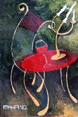 Painting - Concert For Single Chair by Maya Manolova