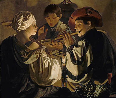 Blueberry Painting - Concert by Hendrick Ter Brugghen