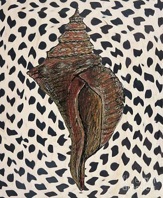 Drawing - Conch Shell by Patricia Januszkiewicz