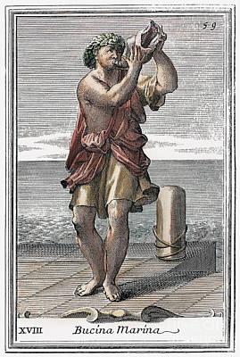 Conch Shell Trumpet, 1723 Art Print by Granger