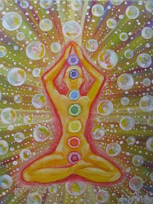 Chakra Painting - Concious Manifestation by Radha Flora Cloud