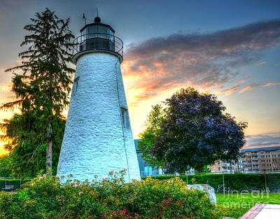 Concord Point Lighthouse 2 Art Print by Debbi Granruth
