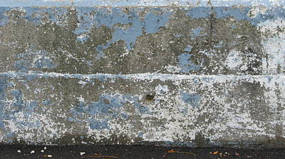 Aged Patina Photograph - Concrete Blue 2 by Anita Burgermeister