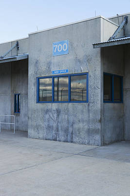 Concrete Building In A Prison Exercise Art Print by Roberto Westbrook