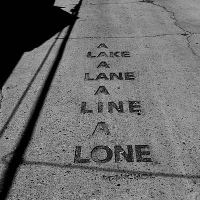 Laneway Photograph - Concrete Poem by Andrew Fare