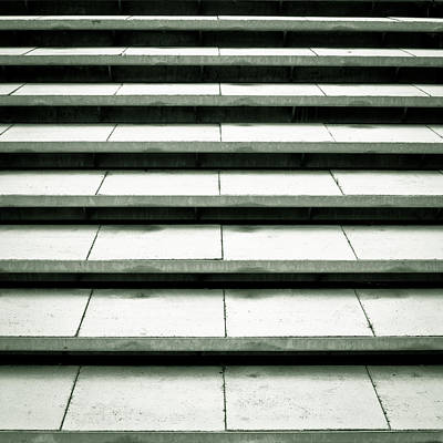 Of Stairs Photograph - Concrete Steps by Tom Gowanlock