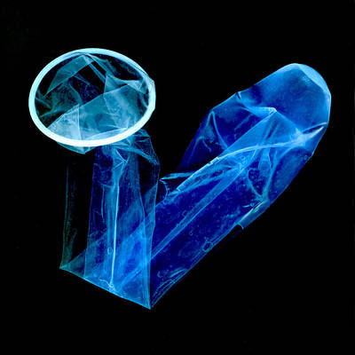 Condom, Negative Image Art Print
