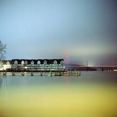 Susquehanna River Photograph - Condos At Night by Daniel Regner