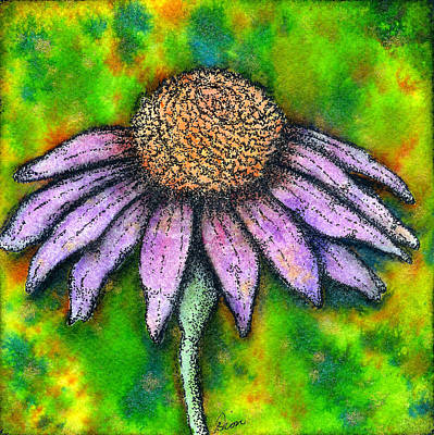 Mixed Media - Cone Flower by Dion Dior