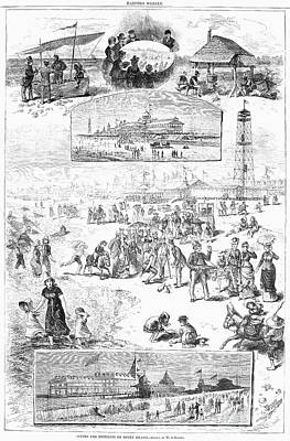 Coney Island, 1878 Art Print by Granger