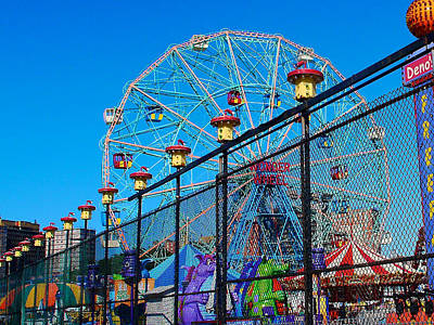 Photograph - Coney Island Amusement Park by Cornelis Verwaal