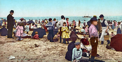 Photograph - Coney Island: Beach, C1902 by Granger