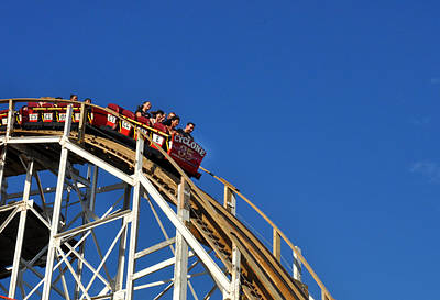 Photograph - Coney Island Cyclone by Diane Lent