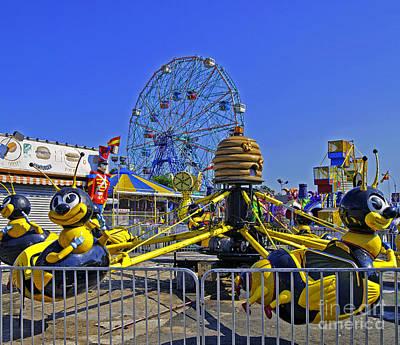 Luna Park Fun - Coney Island - New York Art Print by Madeline Ellis