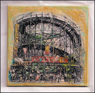 Mixed Media - Coney Island Fun by Ruby Cross