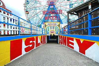 Coney Island Sign Print by Mark Gilman
