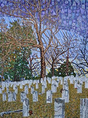 Confederate Cemetery At Oakwood Art Print by Micah Mullen
