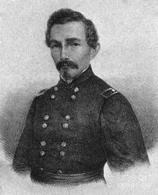 Confederate General Beauregard Art Print by Photo Researchers