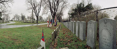 Confederate Graves Print by Jan W Faul
