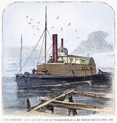 Confederate Ship, 1862 Print by Granger