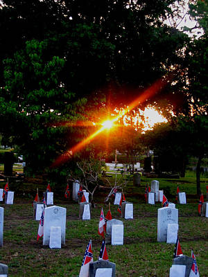 Photograph - Confederate Sunset by Lyn Calahorrano