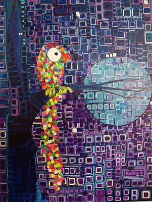 Print featuring the painting Confetti Bird by Donna Howard