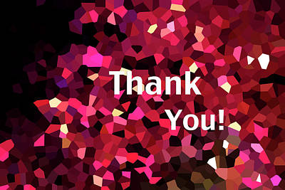 Photograph - Confetti Thank You by Paula St James
