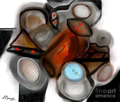 Digital Art - Conglomeration by D Perry