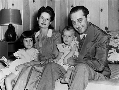 Lyndon Photograph - Congressman Lyndon Johnson With Wife by Everett