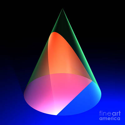 Digital Art - Conic Section Parabola 6 by Russell Kightley