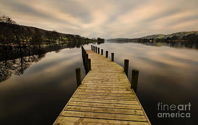 Coniston Water Jetty Art Print by John D Hare