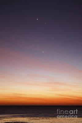 Photograph - Conjunction Of Venus, Mercury, Jupiter by Luis Argerich