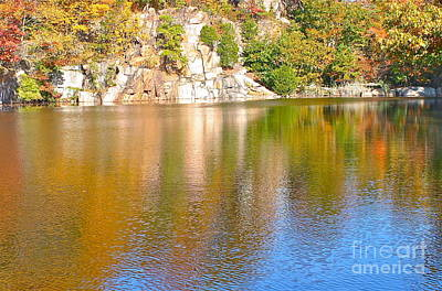 Photograph - Connecticut Autumn Pond by Cindy Lee Longhini