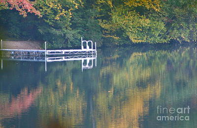 Connecticut Autumn Reflections Art Print by Cindy Lee Longhini