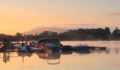 Connecticut River Oxbow Morning Fog Mount Holyoke Print by John Burk
