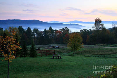 Connecticut River Valley Sunrise Art Print by Butch Lombardi