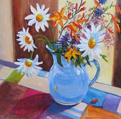 Crocosmia Painting - Connemara Flowers by Mary Weir