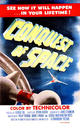1955 Movies Photograph - Conquest Of Space, 1955 by Everett