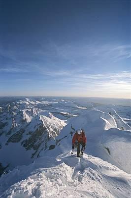 Conrad Anker Summits A Mountain Art Print by Jimmy Chin