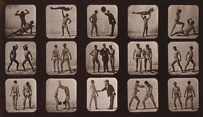 Consecutive Images Of Men Doing Art Print by Everett