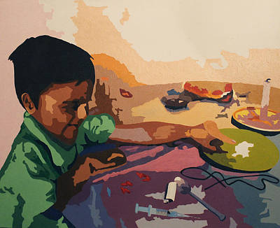 consequence  Consecuencias Art Print by Fernando A Hernandez